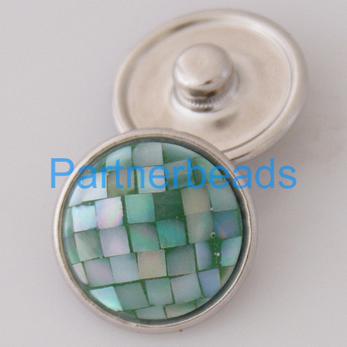 product OEM ODM 18MM shell snap button for snaps jewelry fit button bracelets from www partnerbeads com KB2801-AC