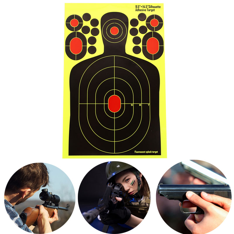 Shooting Target Paper Yellow Archery Practice Economic Hunting Bow Outdoor Hunter Training