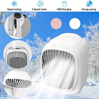 Mini Air Conditioner Water Cooling Fan Portable USB Air Humidifier Purifier Cooler Fan 3 Gear Desktop Cooler Fan for Home Office