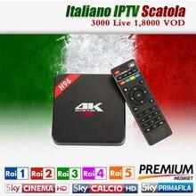 Итальянский IP ТВ H96 RK3229 Quad Core Android 6.0 ТВ коробка 1 г/8 г HDMI 2.0 WI-FI 4 К 1080 P H.265 Италия 20,000 VOD 3000 Live xxx Hot Club