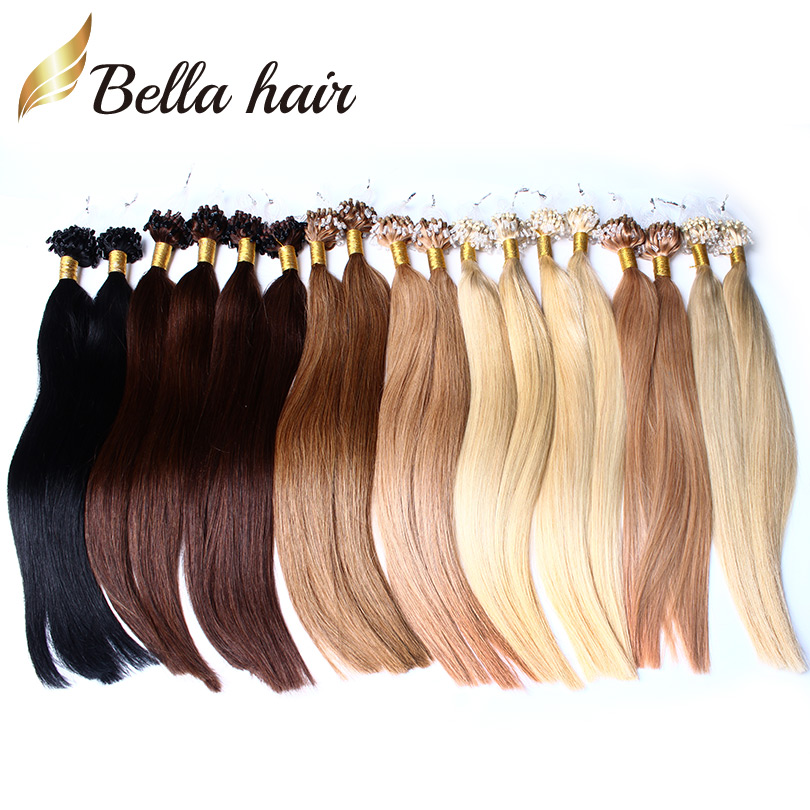 10 Colors Available 6a Micro Loop Hair Extensions Brazilian Remy