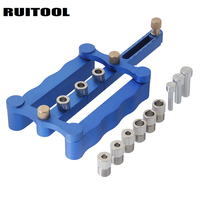 RUITOOL Drilling Tools Woodworking Jig 6 8 10mm Self Centering Dowelling Jig Set Punch Locator