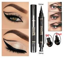 Eyeliner Stamp Pencils Long Lasting Black Color Eye Liner Pencil Makeup