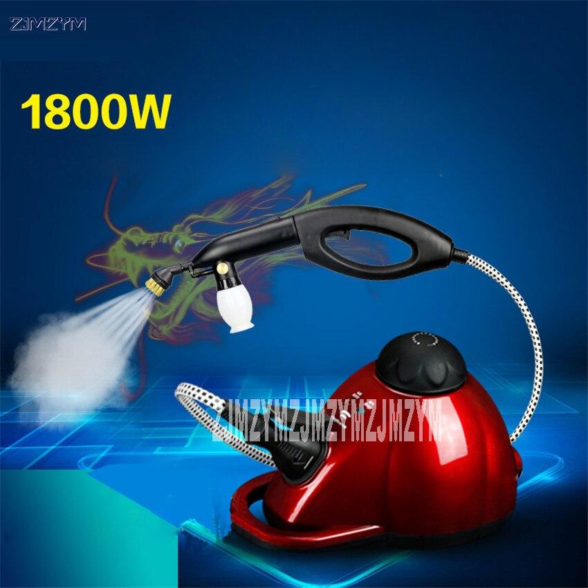 1800 Вт 1000 мл пароочиститель машина для чистки машина дезинфекции стерилизации Утюг анти клещей с много аксессуар 5 м провода