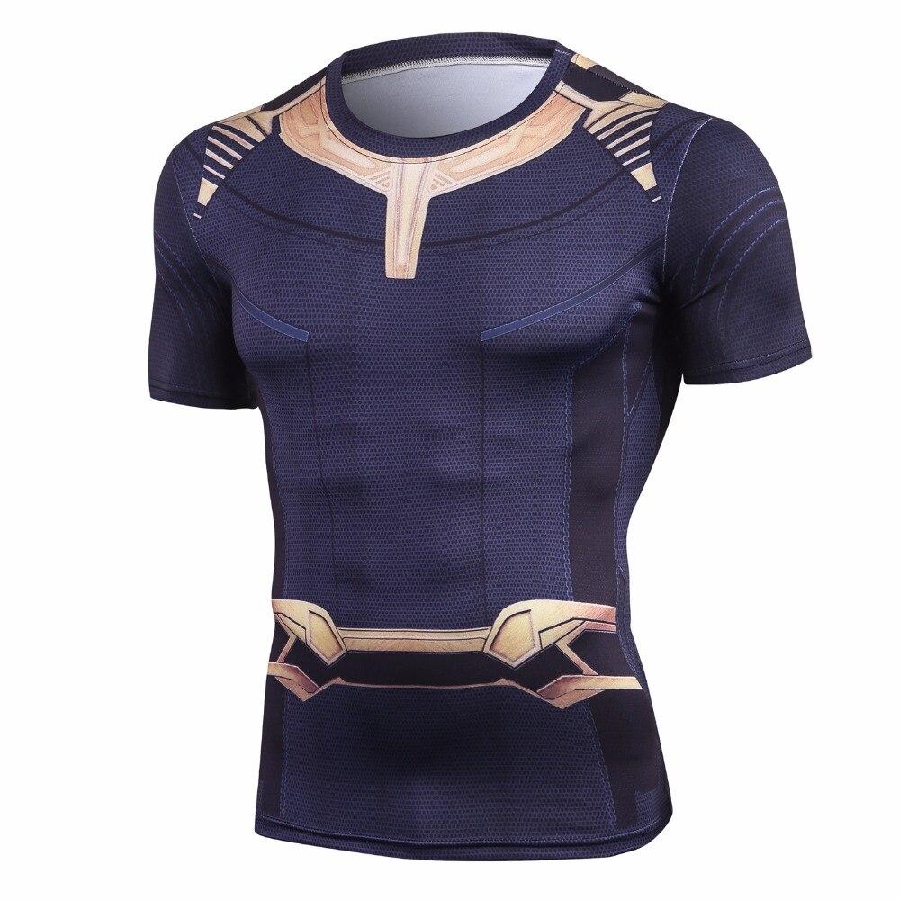 Avengers 3 Manica Corta Compressione Shirt Thanos 3D Stampato T camicie Uomo Estate 2018 NUOVO Top Uomo Fitness Crossfit panno