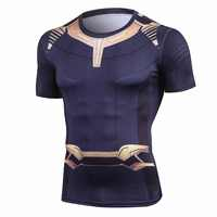Avengers 3 Short Sleeve Compression Shirts Thanos 3D Printed T shirts Men 2018 Summer NEW Tees Top For Male Fitness Cloth