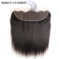 Rebecca Brazilian Straight Remy Hair Closure 13x4 Lace Frontal For Hair Salon Ear To Ear Human