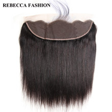 Rebecca Brazilian Straight Remy Hair 13x4 Lace Frontal Closure Ear to Ear Lace Frontal 100% Human Hair Closure Free Shipping(China)