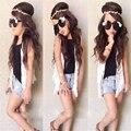 2015 Новых прибытия Девочек одежда набор Lnice в Европейском стиле мода лето Футболка + юбка шаровары 2 шт. костюмы дети одежда