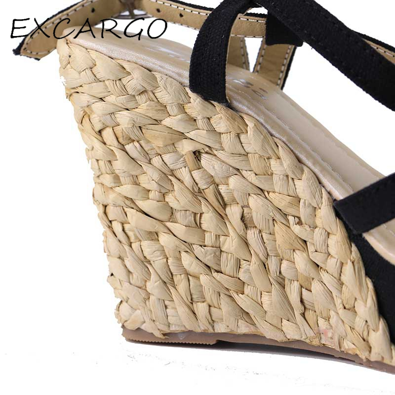 Bohemian Roman Slope Plus Size 30-43 Sexy High անջրանցիկ - Կանացի կոշիկներ - Լուսանկար 5