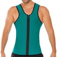 Self Heating Men Vest Neoprene Corset Abdomen Zipper Quick Dry Men Shapewear Vest