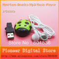Hot Sell 5pcs/lot Mini Cute Beatles MP3 Music Player Gift MP3 Support Micro SD/TF Card With Earphone&Mini USB Free Shipping
