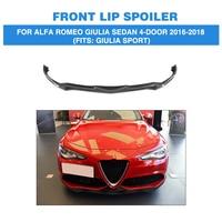 Alfa Romeo Giulia Sedan 4 도어 용 탄소 섬유 앞 범퍼 립 스포일러 2016-2018 FRP 도색되지 않은