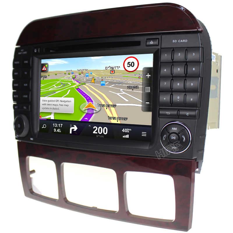 Neu 7''Car DVD GPS Player Sat Navi Android 8 0 Stereo For Mercedes Benz  S-Class W220 W215 S280 S320 S400 S500 4GB RAM 32GB ROM