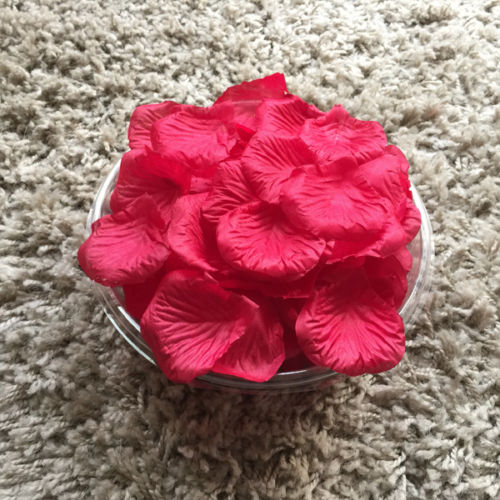 Wedding Baskets For Flower Petals : Wedding silk rose petals bridal flowergirl basket