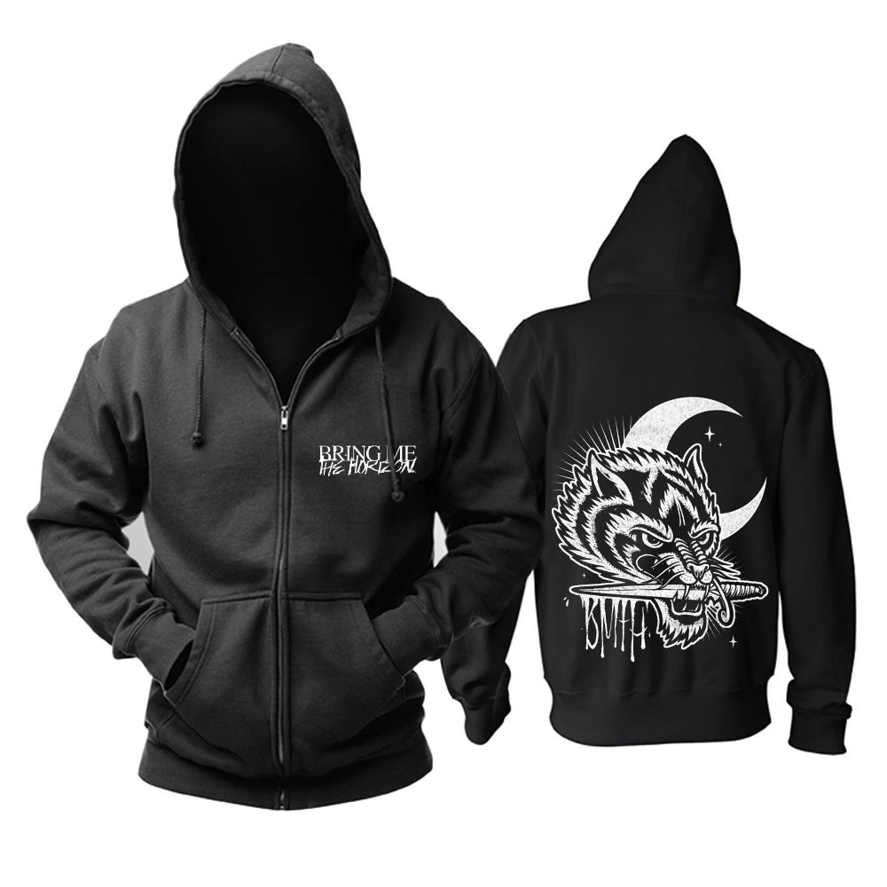 Bloodhoof Free shipping Bring Me The Horizon Belanger rock new black  cotton hoodie Asian Size