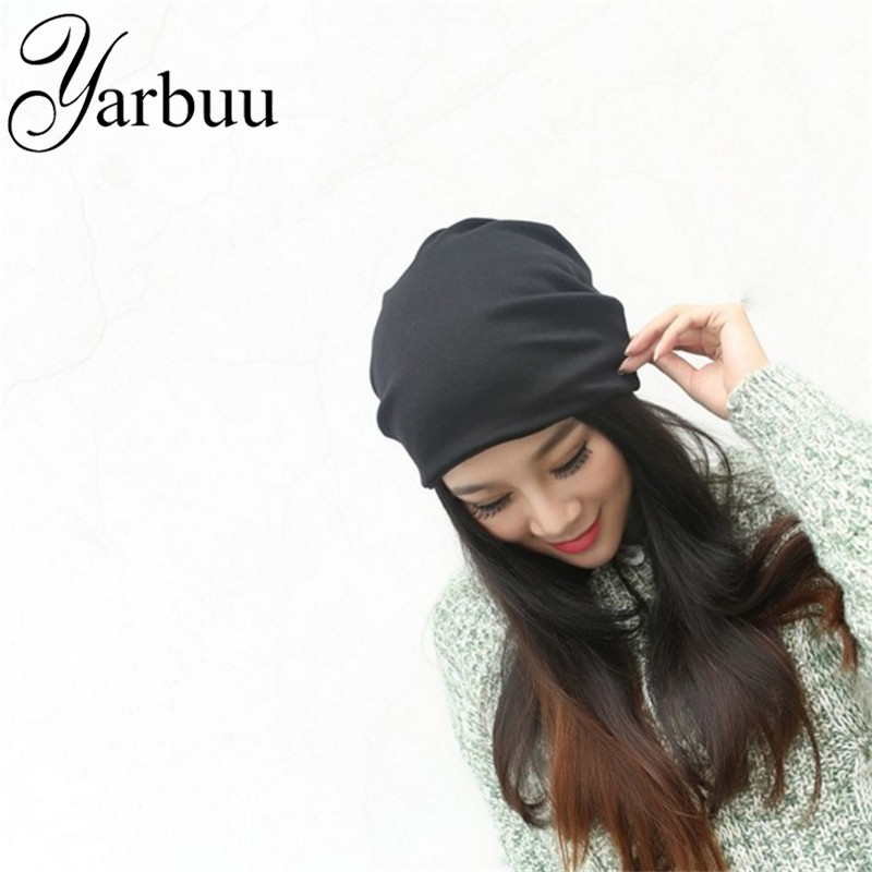 [YARBUU] Skullies & Beanies Hot Sale 2017 new Fashion hat Women winter hat knitted hat winter hat knitted women's caps 2pc skullies