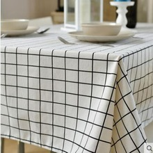 Cotton and linen fresh tablecloth, Nordic art desk, simple modern home rectangular tablecloth