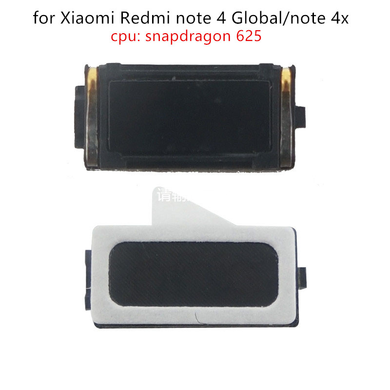 2pcs For Xiaomi Redmi Note 4 Global/Note 4X Snapdragon625 Earpiece Receiver Ear Speaker Cell Phone Replacement Repair Part Test