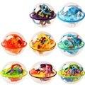 7 Estilo de Los Niños Juguetes de Inteligencia 3D Bola Laberinto Inteligencia IQ Cubo Mágico Magia Fantasía Órbita del Padre-Niño Educación D102