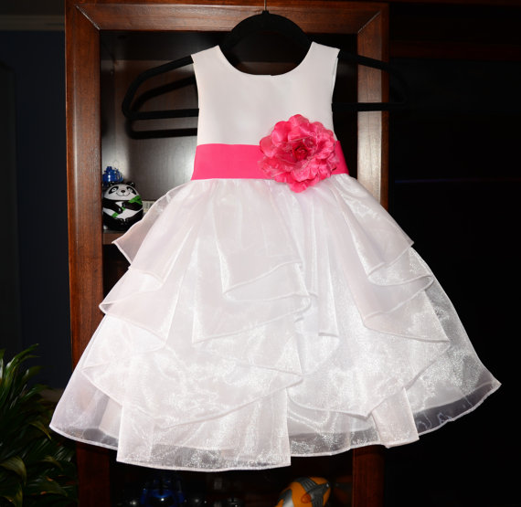 2017 Autumn Kids Pageant Dresses Knee-Length Flower Girls Dresses For Wedding A-Line White Mother Daughter Dresses With Sashes white and ivory lace flower girls dresses for wedding a line spring pretty mother daughter dress tulle pageant dresses for girls