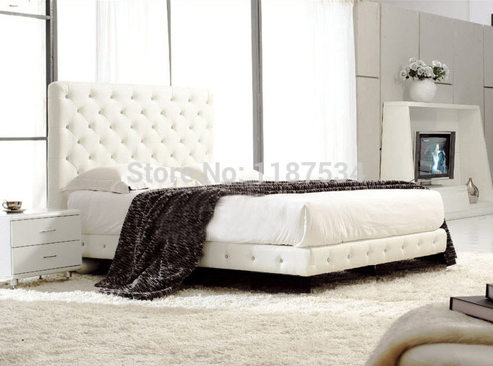 Large king size soft bed PU+PVC leather soft bed C382 smoby детская горка king size цвет красный