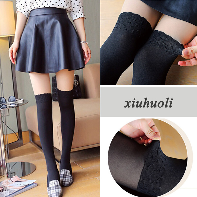spring autumn pantyhose women girls patchwork stockings black nude colors tights sexy flower collants hot sale - Collants Colors