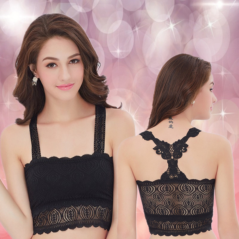 2016 Fashion Womens Sleep Lace Bra Sexy Lingerie Leisure Detachable Padded Bra Bra Brassiere