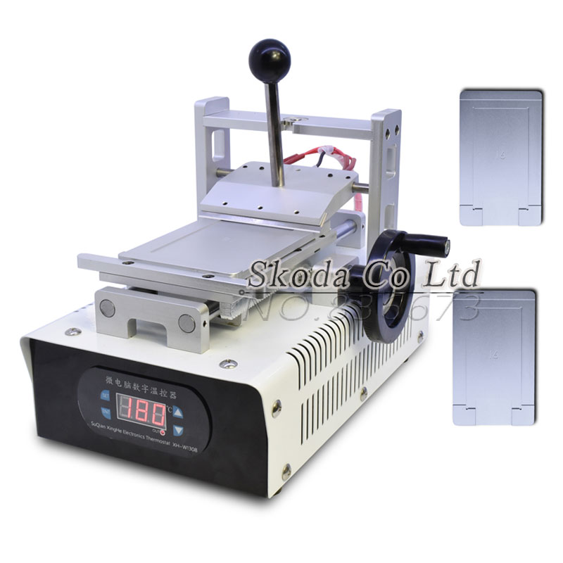 LCD Touch Screen Polarizing Film UV Glue Remover Machine+2 pcs mould for Iphone4/4S/5/6/6plus Precision remove glue machine 946d screen separator with accessories uv glue uv lamp moulds etc glue remove machine