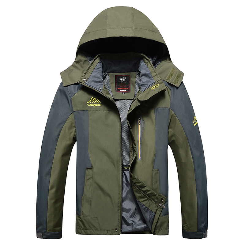 6XL 7XL 8XL grande taille hommes coupe-vent doux Shell extérieur vestes hommes escalade Camping manteaux amovible capuche mâle randonnée vestes