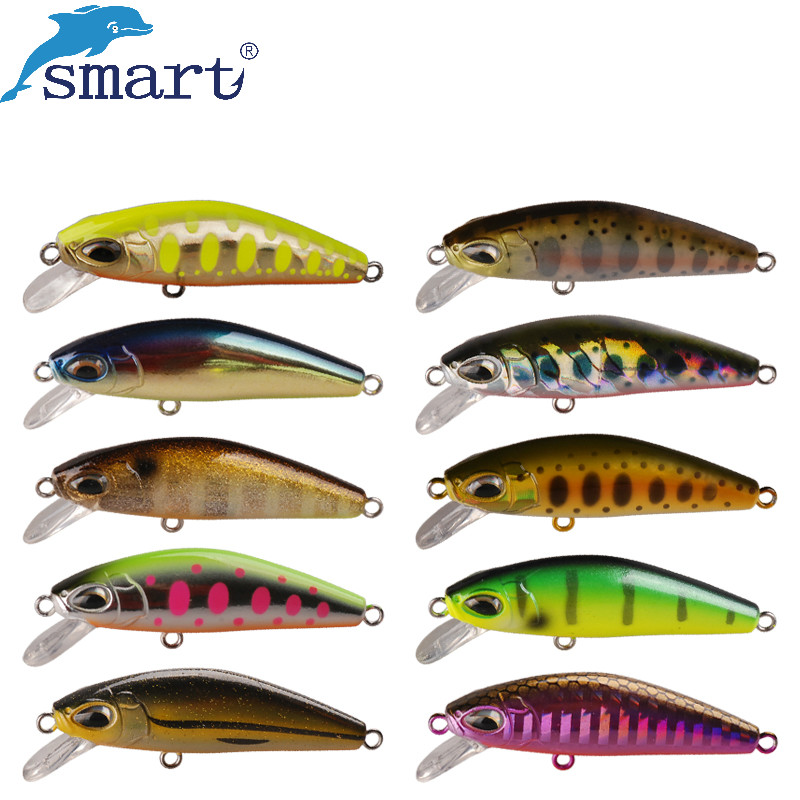 Smart Minnow Bait 5cm 5.7g Sinking Fishing Lures VMC Hook Isca Artificial Pesca Carp Fishing Wobblers Tackle Peche A La Carpe 1pc wobbler fishing lures sea trolling minnow artificial bait carp 9cm 9 1g peche crankbait pesca fishing tackle zb207