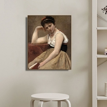 Interrupted Reading by Camille Wall Art Canvas Poster and Print Painting Decorative Picture for Living Room Home Decor