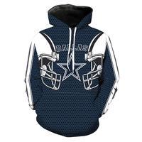 Dallas Cowboys 3D Printed Long Sleeve Pullover Hoodies Men Women Jackets Sweatshirts