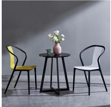 Black Beetle Chair Modern Simple Back Dining Chair Home Creative Design Casual Fashion Plastic Chair(China)