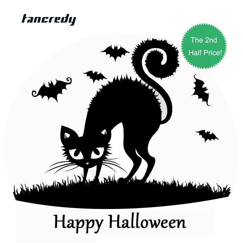 halloween decoration stickers 3d funny car styling 1312cm fashion car whole body decor decals wall window house home sticker