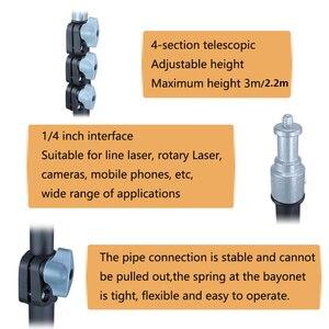 "Image 4 - 3m 2.2m Laser Level Photography Tripod  1/4"" Interface Black Extend Bracket"