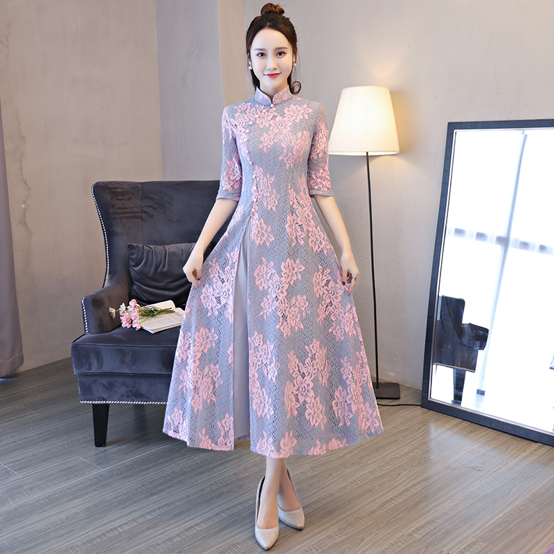 2019 Arrival Aodai Vietnam Qipao Dress For Women Traditional Clothing Ao Dai Dresses Oriental Dress For Women Asian Dress