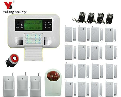 цены  YobangSecurity home GSM PSTN Alarm system 433mhz voice prompt LCD Keyboard Wireless alarma gsm with outdoor siren flash