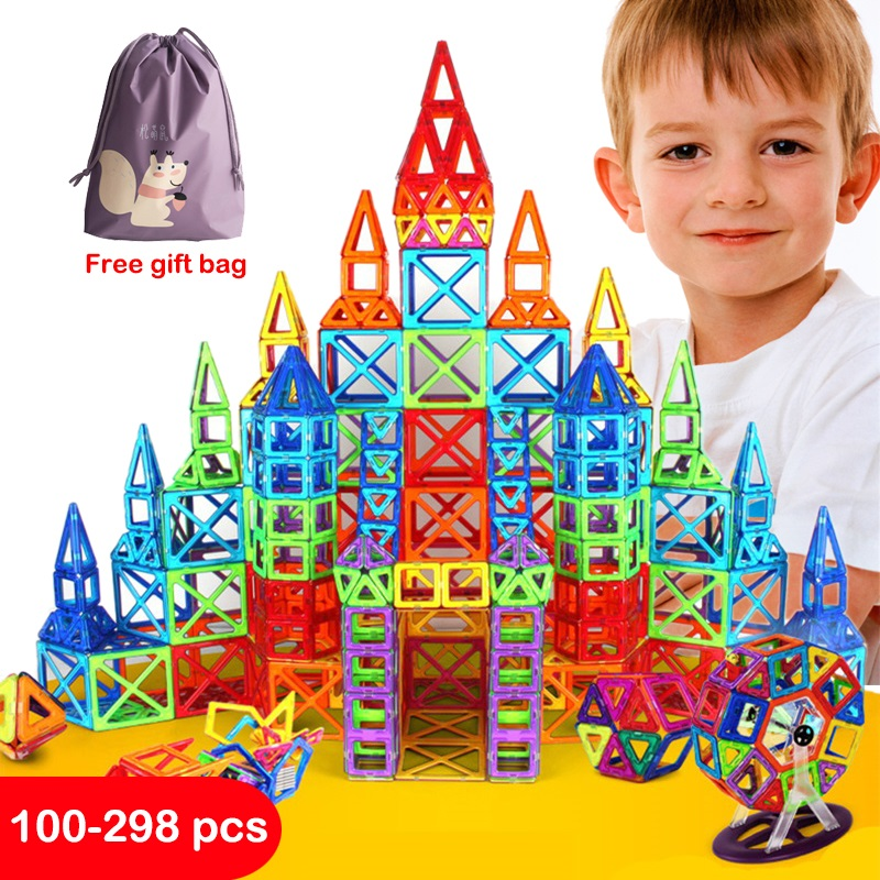 Mini Magnetic Blocks Building Construction Toys Magnetic Designer For Children Magnet Games Educational Toy For Kids Gifts(China)