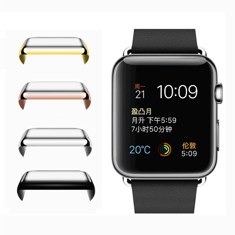 10pcs Superior 42mm 38mm <font><b>Screen</b></font> <font><b>Protector</b></font> Ultra-Thin Electroplate Metal Plated Hard Case For Apple Plating <font><b>Watch</b></font> Series 1 Cover