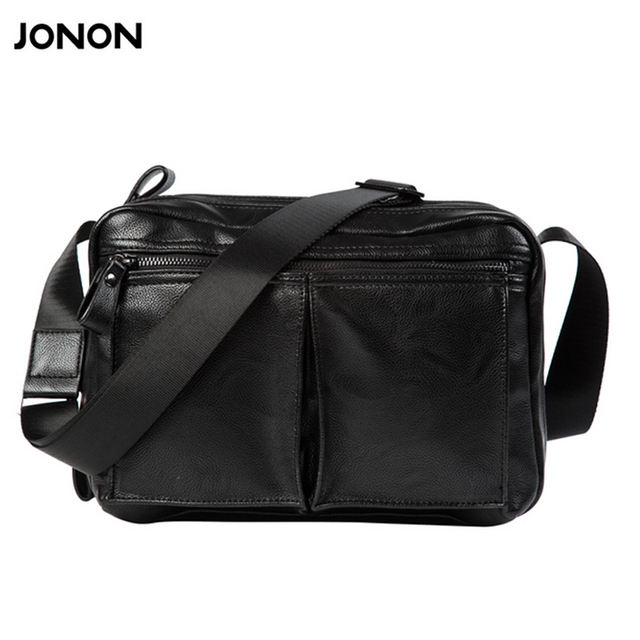 878c6bb5ecef Jonon Men Bag Fashion Men s Messenger Bags Multi pocket Male flap pu  Leather bag Crossbody shoulder bags Handbags
