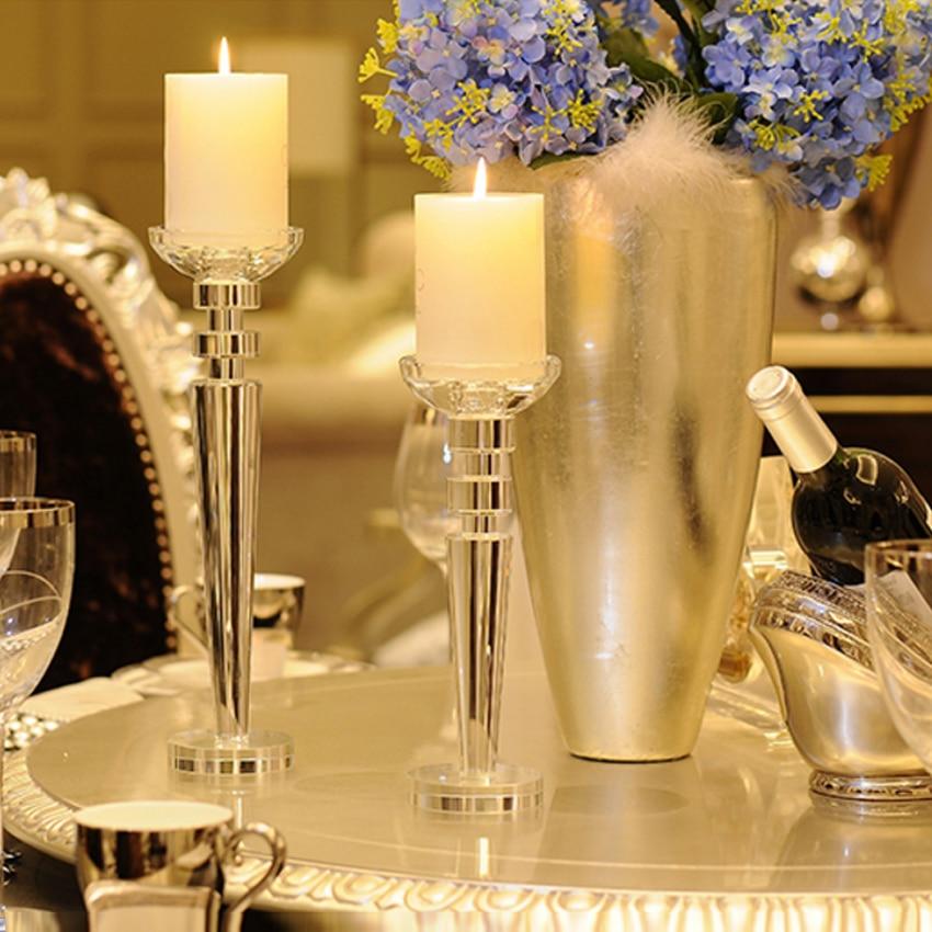 Europe Candle Holders Creative Crystal Candelabra Tea