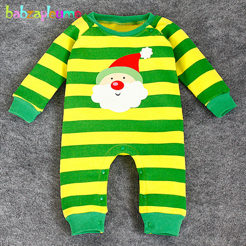 0 24Months Christmas Style Baby Girls Boys Rompers Clothing Warm Cartoon Cute Santa Claus Infant Jumpsuit