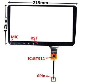 9 дюймов GT911 емкостный сенсорный дигитайзер для Volkswagen автомобильный DVD GPS навигация Мультимедиа сенсорный экран панель Стекло