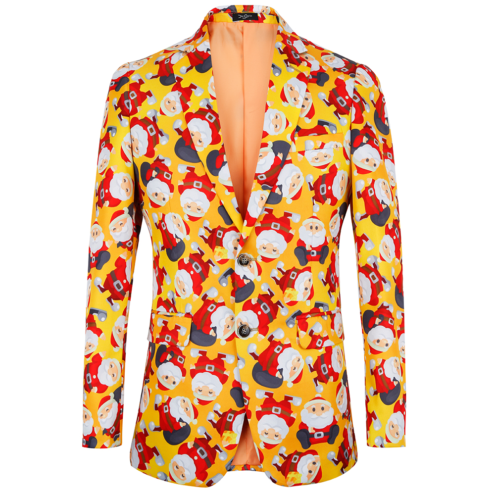 Christmas 2018 New Floral Jacket Suit print Mens Blazers Fashion Single breasted Suits Slim Fit Party Blazers US Plus Size 4XL