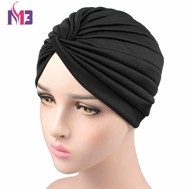 New Fashion Women Turban Soft Polyester Twist Headband Turban   Headwear   Hair Accessories Bandana Hijab Turbante Hat