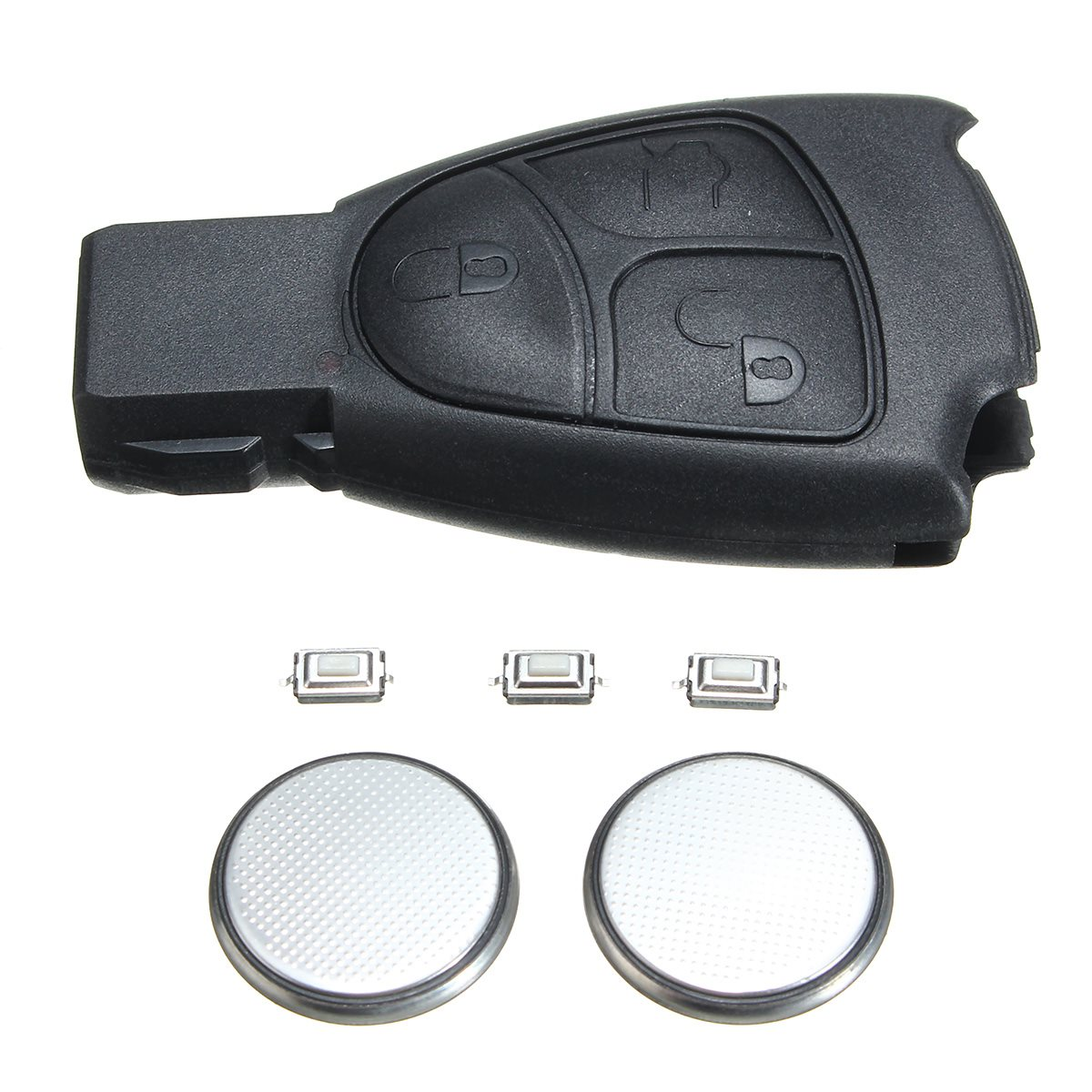 3 Buttons Remote Key Fob Case Repair Kit For Mercedes-Benz E S C CLK CL ML CLS SLK 1998 2001-2007 Black