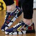 Повседневная Мужская Обувь Смешанные Цвета Дышащий Удобные Мягкие Плоские Туфли на шнуровке Мужские Тренеры Корзина Роковой Досуг Zapatos Hombre