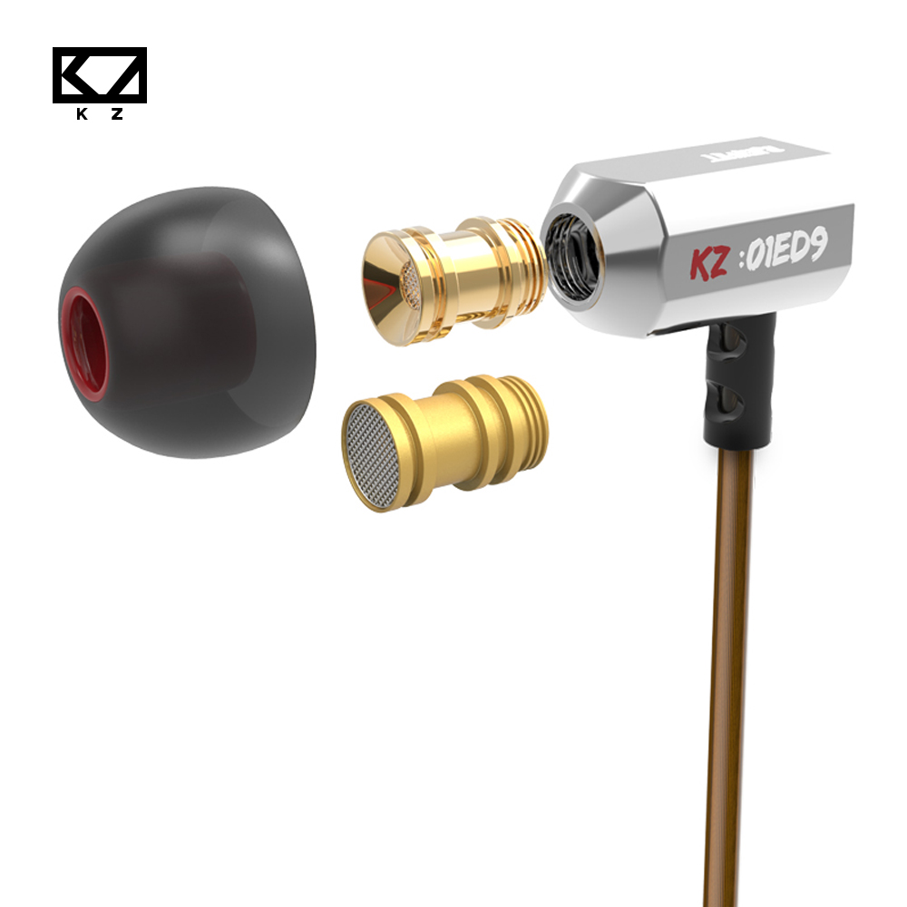Original KZ ed9 3D Stereo Earphone With Special Detachable Sound Chamber Handsfree call For Android/IOS Smartphone Laptop Mp3 PC em290 copper wire earphone in ear with mic clear 3d sound quality handsfree call for android ios smartphone oppo xiaomi mp3 pc