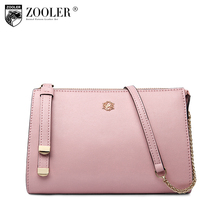 ZOOLER genuine leather bag women messenger Bags famous brand elegant solid bag for lady cross body VIP special 0- profit  #B100